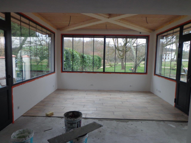 Chalet et maison ossature bois r alisations nordi bois en for Extension bois veranda