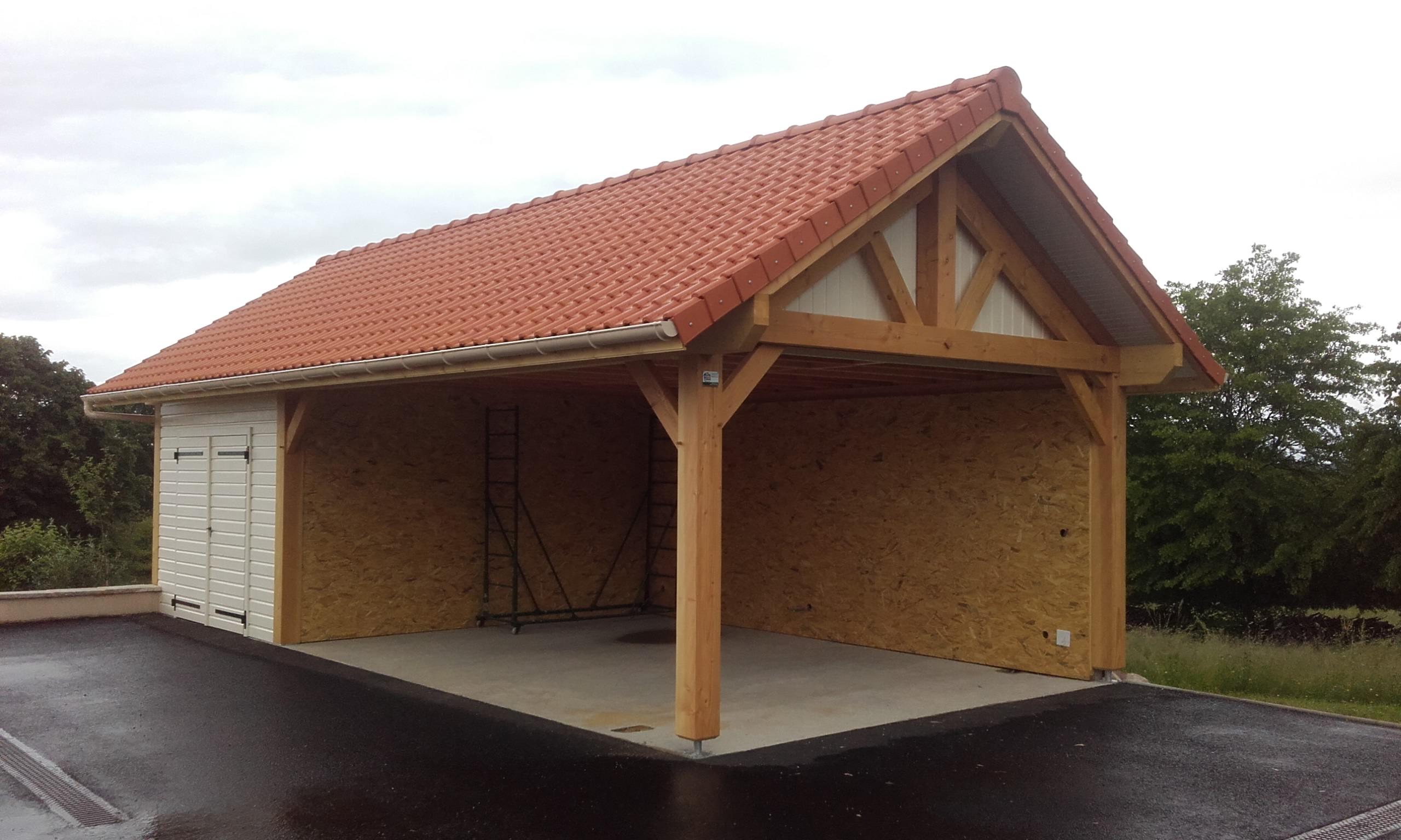 auvent carports nordi bois construction maisons madrier et ossature bois. Black Bedroom Furniture Sets. Home Design Ideas